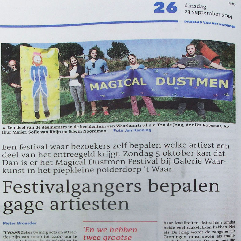 krantenartikel over magical dustmen